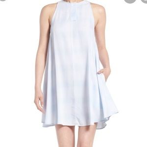 Rails Baby Blue Plaid Trapeze Swing Dress